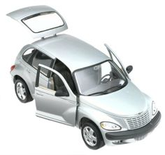 "Chrysler PT Cruiser 1/18 Die-Cast Model Black by Maisto. $23.51. 1:18 Scale - Die Cast Metal. Chrysler PT Cruiser - 4 Door - Maroon Paint. Limited Edition. Mint in Package. Maisto - Special Edition. Amazon.com                Chrysler's modern ""back-to-the-future"" movement, which started  with the Plymouth Prowler, expanded into family-friendly territory with  the sharp PT Cruiser. Reminiscent of the legendary Chrysler Airflows of  the '30s, the PT is an innovative, scale..."