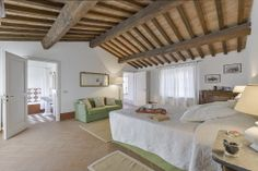 Spacious rooms and a personal en-suite make it easy to relax at villa in Maremma.