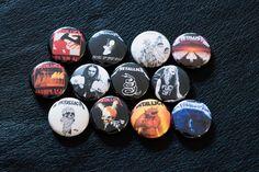 "Metallica Pinback Tasten - Metallica 1"" Pin Thrash Metal schwere Geschwindigkeit James Hetfield Cliff Burton Kirk Hammett Lars Ulrich Master of Puppets"