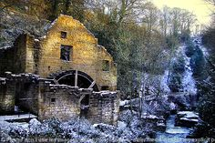Old Water Mill Jesmond Dene, Newcastle-upon-Tyne, England . lucky to have this on my doorstep Abandoned Buildings, Abandoned Places, Jesmond Dene, Water Powers, Northern England, North East England, Water Mill, Le Moulin, Covered Bridges