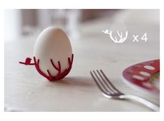 3D Printed egg cups - choose your color / set of 4
