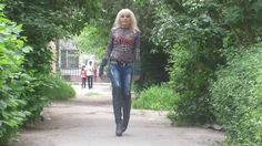 Ira in Overknee-Stiefel und Jeans (Boots and Jeans / High-Heels / outdoo...