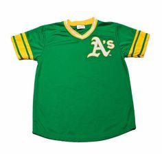 Vintage 90s Oakland Athletics Green Baseball Jersey Mens Size Medium $40.00
