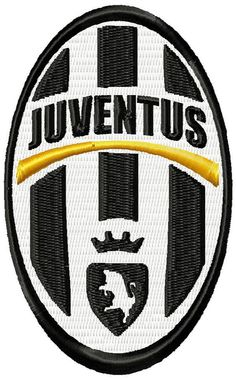 Juventus FC logo machine embroidery design by emoembroidery