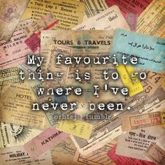 I want to travel the world...