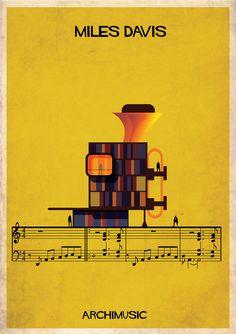 ARCHIMUSIC: Ilustrações transformam música em arquitetura,© Federico Babina