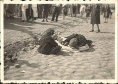 Two young children grieve over the dead body of a sibling in the Warsaw Ghetto.  The Germans were only one of the perils that stalked the ghetto;  disease, hunger & suicide produced a constant abundance of corpses.This just breaks my heart.