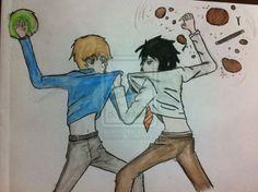 Sam and Caine...this is pretty much how they are in the whole series.