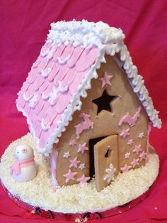 oooh, a pink gingerbread house