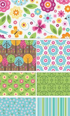 Summer Song 2 by Zo� Pearn for Riley Blake Designs—Subscribe to our newsletter at http://www.rileyblakedesigns.com/newsletter/