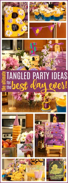 Disney Tangled Party Ideas for the ultimate Rapunzel themed birthday! Food, decor & more - Raising Whasians via @raisingwhasians