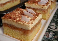 Obrácené jablkové řezy s pudinkovým krémem | NejRecept.cz Tart Recipes, Tiramisu, Izu, Sweet Tooth, Cheesecake, Deserts, Food And Drink, Low Carb, Nutella