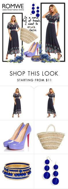 """""""Contest (romwe)"""" by janie-xox ❤ liked on Polyvore featuring Christian Louboutin and BaubleBar"""