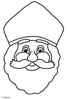 Kleurplaat sinterklaas. Kinderen leren terwijl ze kleuren. Afbeeldingen voor scholen en onderwijs - afb 8748. Projects For Kids, Diy For Kids, Art Projects, Crafts For Kids, St Nicholas Day, Santa Pictures, Coloring Pages, Saints, Illustration