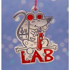 LAB Rat Pewter Ornament