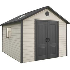 SAVE £250 IF YOU BUY BEFORE MAY 7TH!!  The Lifetime 11 x 11 is a quality plastic shed with an apex roof which is manufactured from high-density polyethylene (HDPE) and features heavy duty powder coated steel reinforcements.