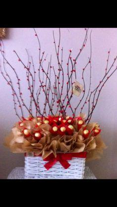 Chocolate Ferrero Rocher bouquet.