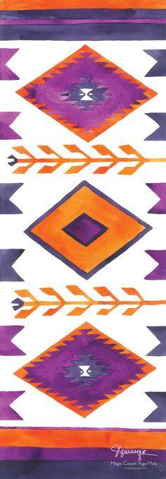 Image of Southwest Magic Carpet Yoga Mat