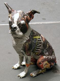 ideas for Whippet paper mache Paper Mache Clay, Paper Mache Crafts, Paper Mache Sculpture, Dog Sculpture, Paper Clay, Animal Sculptures, Paper Art, Paper Mache Animals, Animal Heads