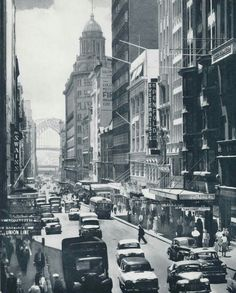Pitt St looking north in Sydney in the 1960s.