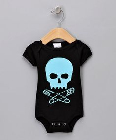 Take a look at this Blue Baby Skull Bodysuit - Infant by Pluto on #zulily today!