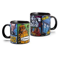 Fill up this Doctor Who mug  with caffeine: you'll need it to fight off all these villains. This cup sports a comic book/pop art style with a few of the series most serious bad guys. Er, aliens. Er, robots. Get yours for $12.99 at ThinkGeek.