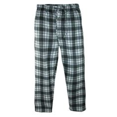 These cozy polar fleece plaid pajama pants will keep warm and comfortable. They feature a covered elastic waistband with adjustable drawstring, side seam pockets and button fly.