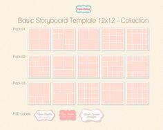 Instant Download X Storyboard Template Collage By Popuridesign