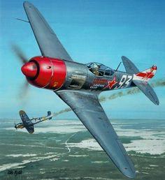 1944 Lavochkin La-7 Teniente Coronel S. F Dolgushin 156 IAP, 215 IAD 8 IAK, - Iain Wylie