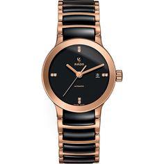 107cb9802e4 Rado R30183712 Centrix rose gold and black ceramic watch (2 130 AUD) ❤  liked · Dámské HodinkyRose Gold