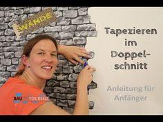 Tapezieren Doppelschnitt Wandgestaltung Wand Wände Doppelnahtschnitt  Steintapete Vlies Tapete Selbst   YouTube.