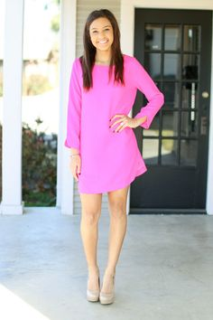 Brighten Your Day Shift - Hot Pink