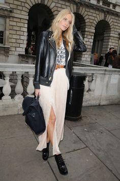 Poppy Delevingne Long Skirt - Poppy Delevingne Looks - StyleBistro