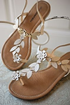 Simple And Sweet Flat Sandals