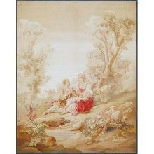 Aubusson XIX «A Romantic Scene»