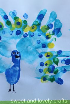 ideas birthday card ideas for grandma diy footprint art Toddler Art, Toddler Crafts, Classroom Crafts, Preschool Crafts, Diy For Kids, Crafts For Kids, Peacock Crafts, Peacock Art, Crafts For 3 Year Olds