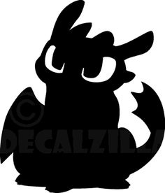 So trainieren Sie Ihren Dragon 2 Silhouette - Goog Toothless Party, Toothless Dragon, Dragon 2, Silhouette Dragon, Silhouette Cameo, Dragon Birthday Parties, Dragon Party, How To Train Dragon, How To Train Your