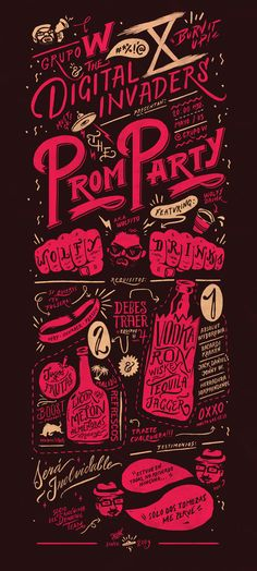 Prom Party Poster by Sindy Ethel Salas