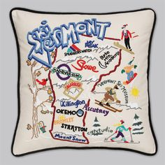 Ski Vermont Pillow - Even though there's a few missing, it's all good!