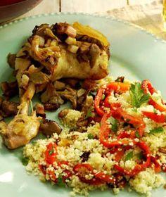 Lilek plněný kuskusem a kuřecím masem   Recepty na Prima Fresh Fresh, Chicken, Meat, Food, Essen, Meals, Yemek, Eten, Cubs