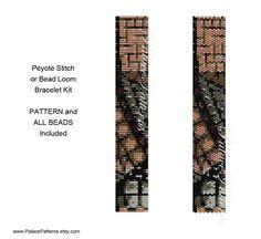 Bead Loom or Peyote Stitch Bracelet KIT Maze от PalacePatterns