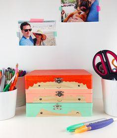 DIY cabeça caixa de madeira