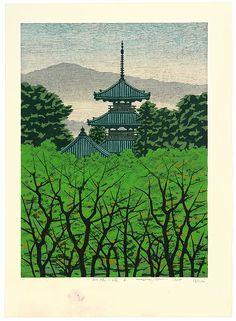 Kitaoka Fumio: Pagoda at Ikaruga - Artelino - Ukiyo-e