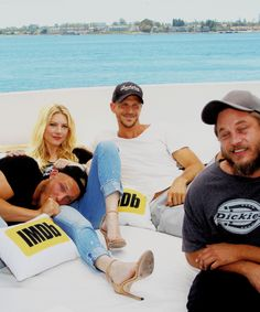 Alexander Ludwig, Katheryn Winnick, Gustaf Skarsgard and Travis Fimmel of Vikings attend the IMDb Yacht at San Diego Comic-Con 2016: Day Two at The IMDb Yacht on July 22, 2016 in San Diego, California