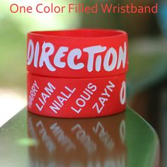 Red Harry Zayn Liam Niall Louis Direction Wristband Bracelet 1 Inch... ($9.98) ❤ liked on Polyvore