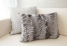 """Order to made Gray Wavy Rectangle Pillow Covers Cushion Cases Shells 20"""" X 14"""" #Handmade"""