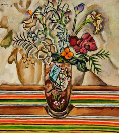 Joán Miró (Spanish, 1893–1983). Still Life with Flowers, 1918