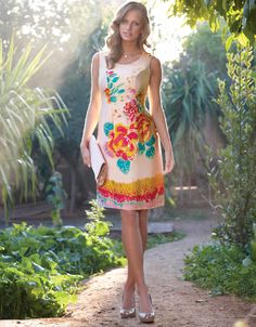 Embellished Silk Shift Dress