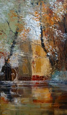 18 Trendy Ideas For Abstract Landscape Collage Texture Abstract Landscape Painting, Landscape Art, Landscape Paintings, Watercolor Paintings, Abstract Art, Art Moderne, Acrylic Art, Amazing Art, Art Drawings