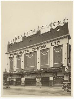 Parramatta Cinema, c. 1920s, by Sam Hood. N.S.W Australia.